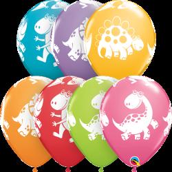 """Balon 11"""" Dinozaury kolorowe 25szt"""