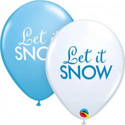 Balon 11 śnieg 6szt