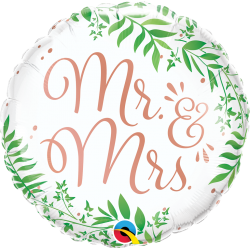 "Balon foliowy 18"" Mr & Mrs..."