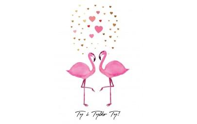 "Kartka walentynkowa ""Flamingi"""