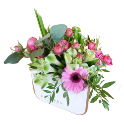 Flowerbox - gerbery - róże