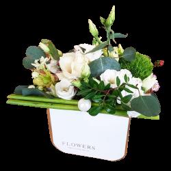 Flowerbox - róże białe 2