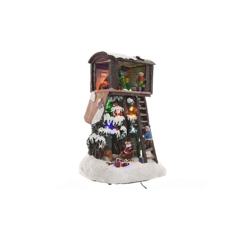 Miasteczko świąteczne led domek na choince 20x17x30cm
