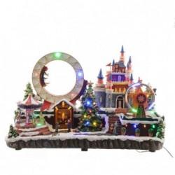 Miasteczko świąteczne led- zamek 25x50x33cm