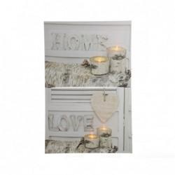 Obraz led Home/Love...