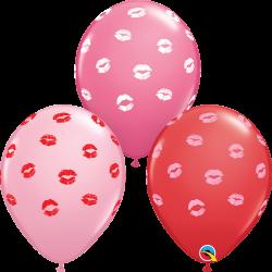 Balon lateksowy z ustami 6szt