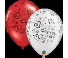 Balon 11 czerwony w serca 50szt.
