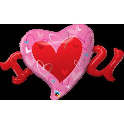 "Balon foliowy ""I Heart U""..."