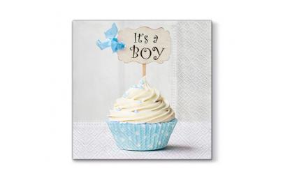 Serwetka cupcake niebieska...
