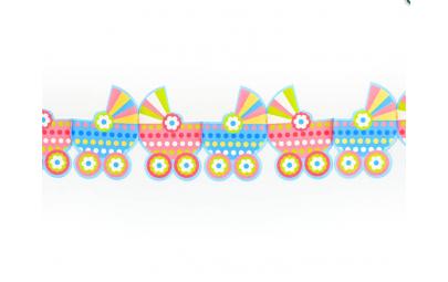 Girlanda papierowa wózeczki...