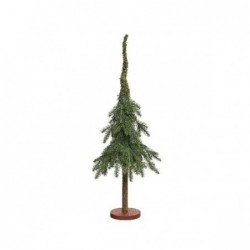 Choinka mini na pniu 22x22x65cm zielona