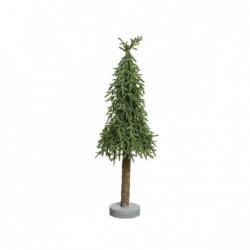 Choinka mini na pniu 23x23x78cm zielona