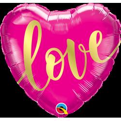 "Balon serce ""Love złote"" 18'"