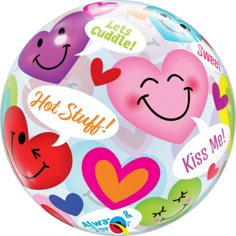 """Balon foliowy"""" rozmowy usmiechniętych serc """" 22'"""