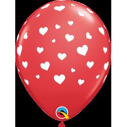 Balon lateksowy czerwony w...