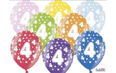 Balon 30cm 4 Birthday...