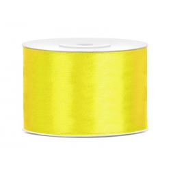 Taśma satynowa żółta 50mm x...