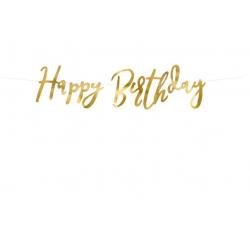 Baner Happy Birthday złoty...