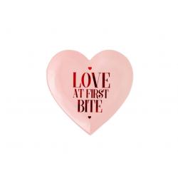 Talerzyk papierowy Love is...