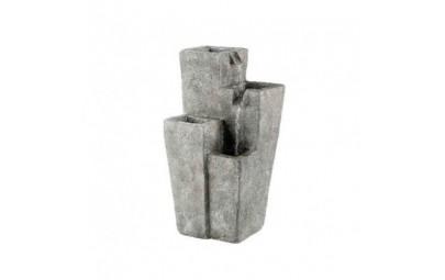 fontanna kwadratowe kolumny z kwietnikiem  2
