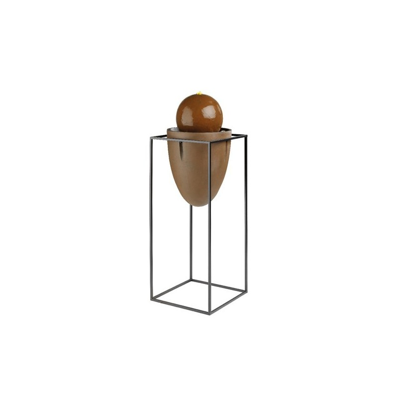 Fontanna kula na stojaku metalowym okładka