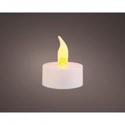 Świeczka tea-light 6 szt. (biały/multikolor)