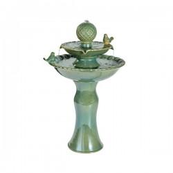 fontanna ceramiczna zielona
