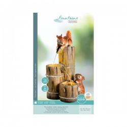 Fontanna led drewniane beczki z wiewiórkami  opakowanie