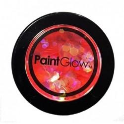Brokat UV holograficzny różowy 3g