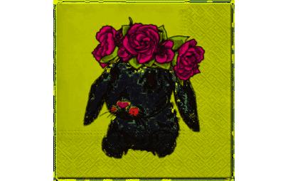 Serwetka Bunny in Wreath