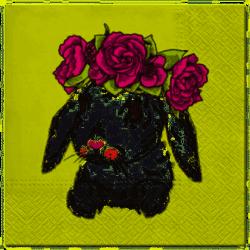 Serwetka Bunny in Wreath 33x33cm 20szt