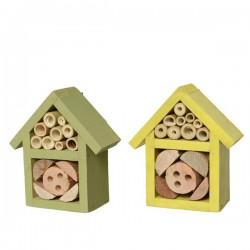 Domek dla owadów z drewna jodłowego 10x11cm