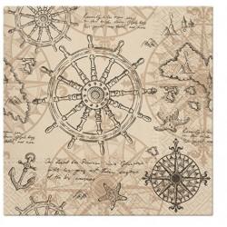 Serwetka Cartography 33x33cm 20szt