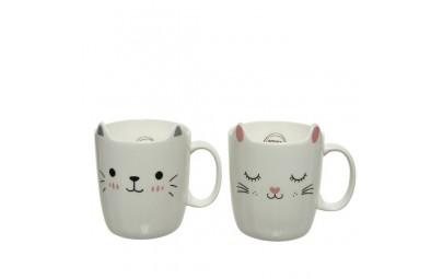 Kubki kotki porcelanowe