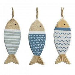 drewniane rybki zawieszki