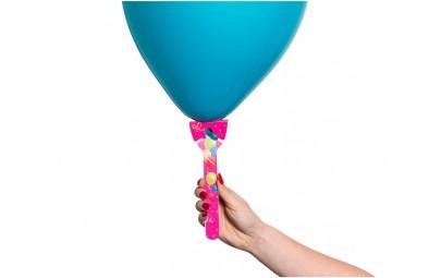 Patyczek (uchwyt) do balonu papierowy różowy