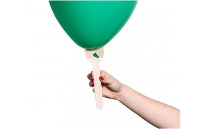 Patyczek (uchwyt) do balonu papierowy brązowy