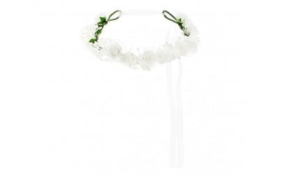Wianek białe kwiatki