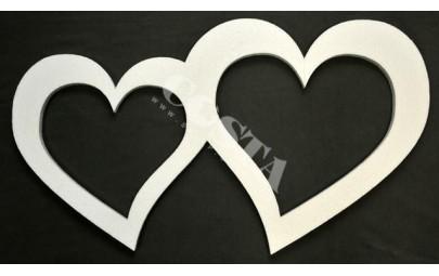 Serce styropianowe podwójne...