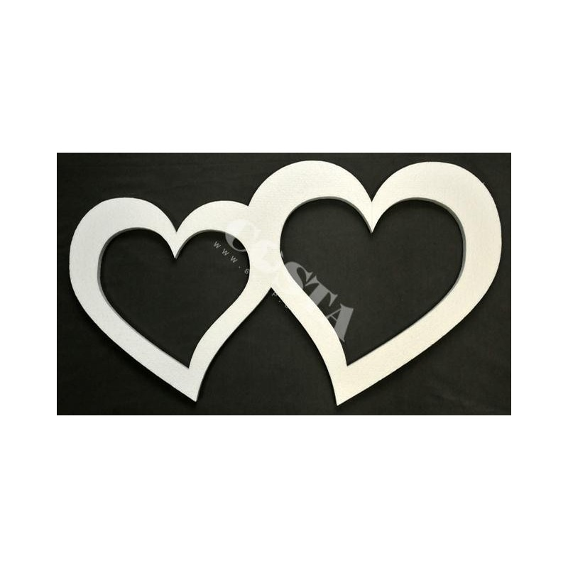 Serce styropianowe podwójne 97x49cmv art.24082