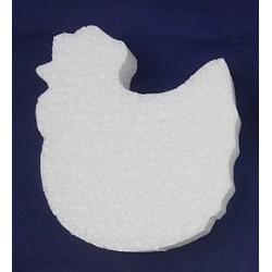 Kurczak płaski styropianowy 12x7cm