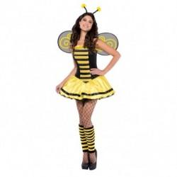 Strój dla dorosłych Pszczółka roz.S (sukienka, skrzydła, opaska z czułkami)
