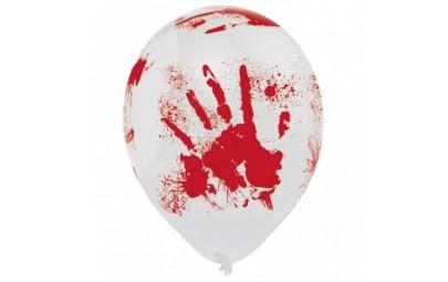 Balon 10 krwawe ślady 6 szt.