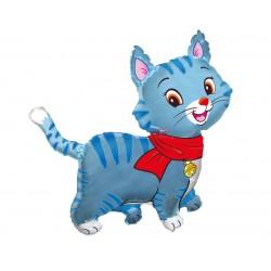 Balon foliowy Kotek niebieski