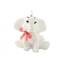 Świeca słonik stearynowy zapachowy biały