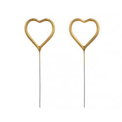Zimne ognie Serce złote 16.5cm