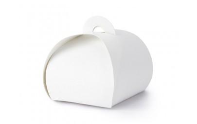 Pudełeczko dla gości białe 6x6x5,5cm 10 szt.