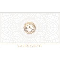"""Zaproszenie komunijne """"Rozeta"""" 5szt"""