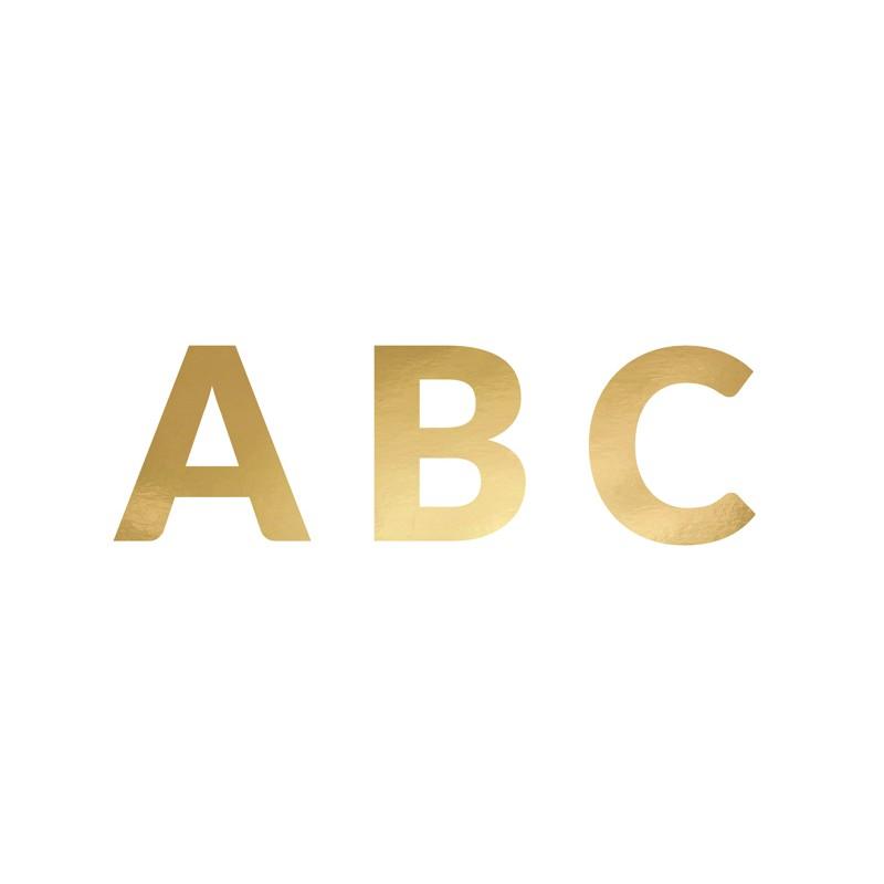 Baner Alfabet złoty
