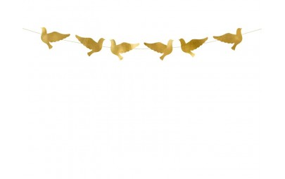 Girlanda Gołębie złote